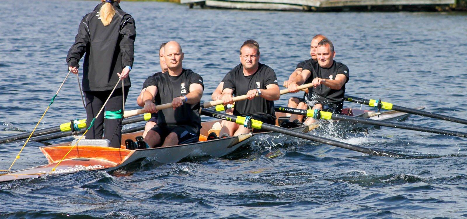 Rowing on Regatta Day